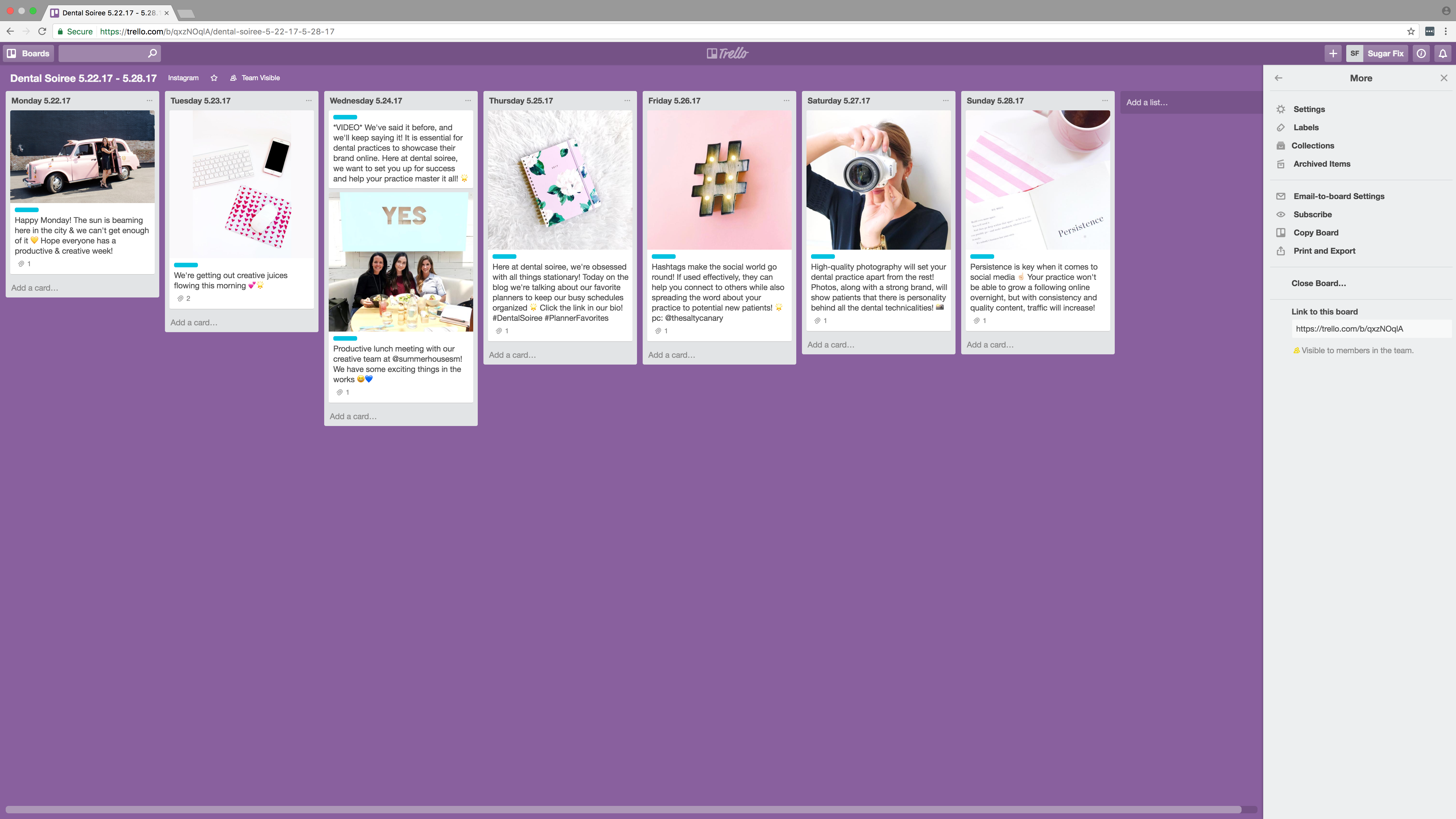 dental soiree // trello