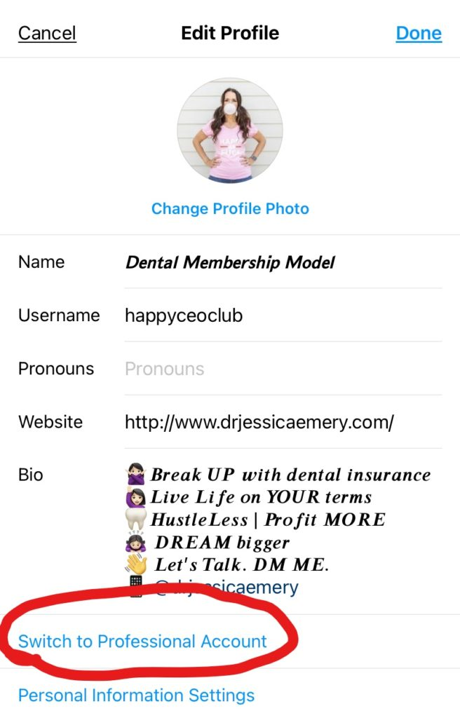 Instagram Account for Your Dental Practice Step Two